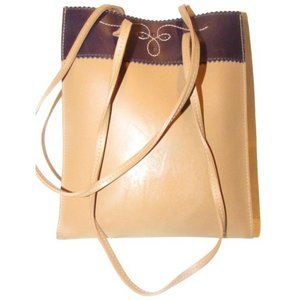 Furla Camel  and Brown Leather Petite Tote